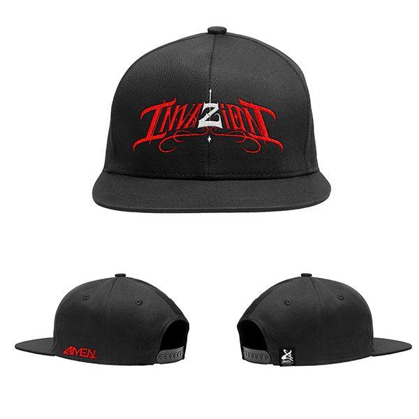 Invazion-gorra-negra-logo-rojo-y–blanco
