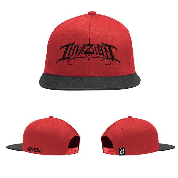 Invazion-gorra-roja-y-negra-logo-negro