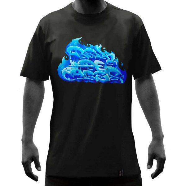 Camisa-negra-reydeasesllamas-frente